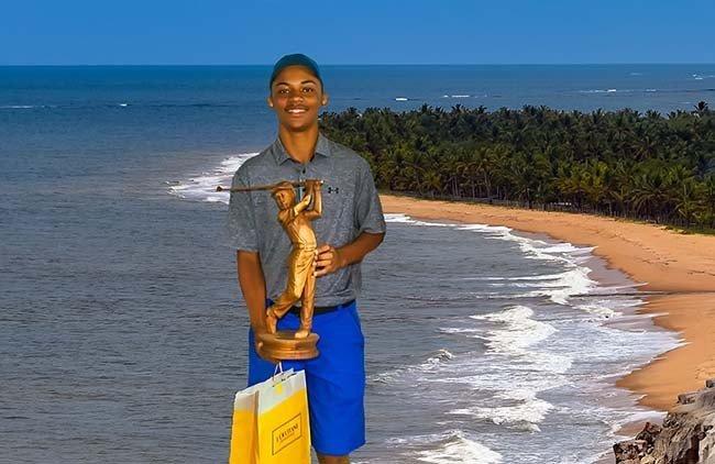Deivid, promessa brasileira de apenas 14 anos. (Foto por Ricardo Fonseca)